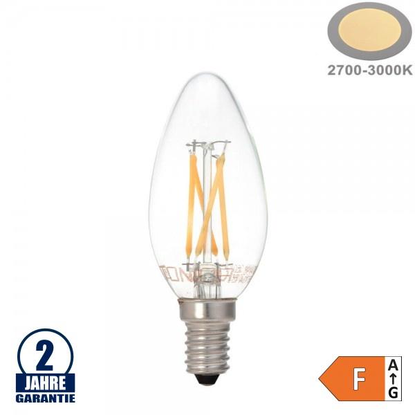 4W LED FILAMENT E14 C35 Kerze Glas 400 Lumen Warmweiß