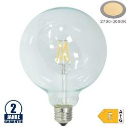 6,5W LED FILAMENT E27 G125 Birne Glas 810 Lumen Warmweiß