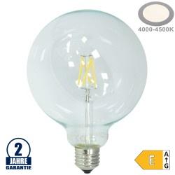 6,5W LED FILAMENT E27 G125 Birne Glas 810 Lumen Neutralweiß