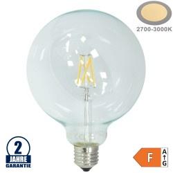 4W LED FILAMENT E27 G125 Birne Glas 400 Lumen Warmweiß