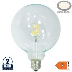 4W LED FILAMENT E27 G125 Birne Glas 400 Lumen Neutralweiß