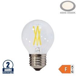 4W LED FILAMENT E27 G45 Birne Glas 400 Lumen Neutralweiß
