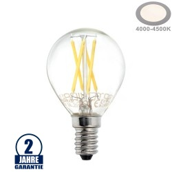 4W LED FILAMENT E14 G45 Birne Glas 400 Lumen Neutralweiß
