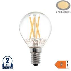 4W LED FILAMENT E14 G45 Birne Glas 400 Lumen Warmweiß