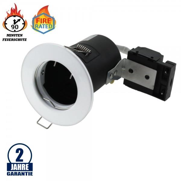 Einbaurahmen für LED GU10 Rund Fixiert Weiß IP20