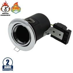 Einbaurahmen für LED GU10 Rund Fixiert Chrom IP20