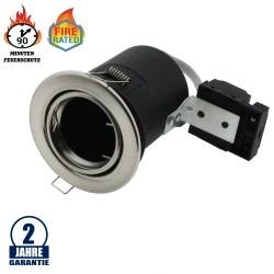 Einbaurahmen für LED GU10 Rund Schwenkbar Inox IP20