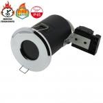 Einbaurahmen für LED GU10 Rund Fixiert Chrom IP65 Wassergeschützt