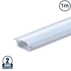 LED Profil Einbau eloxiert 1m SET