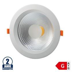 15W LED COB Einbauleuchte Rund 145° Warmweiß TÜV