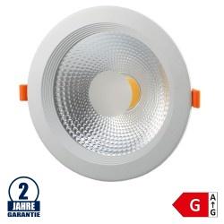 20W LED COB Einbauleuchte Rund 145° Warmweiß TÜV