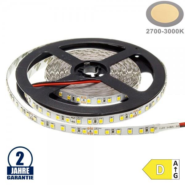 120SMD/m 9,6W/m 24V LED Streifen 3528 Warmweiß 5m