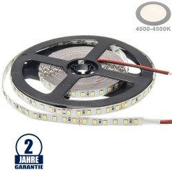 120SMD/m 9,6W/m 24V LED Streifen 3528 Neutralweiß 5m