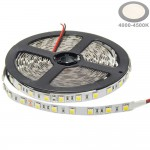 60SMD/m 14,4W/m 24V LED Streifen 5050 Neutralweiß 5m