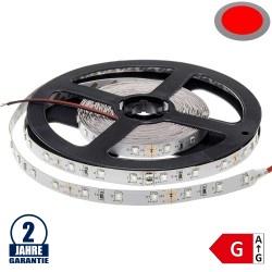 60SMD/m 4,8W/m 12V LED Streifen 3528 Rot 5m