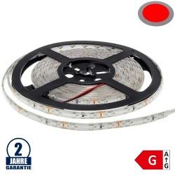 60SMD/m 4,8W/m 12V LED Streifen 3528 Rot Spritzwassergeschützt 5m