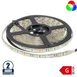 60SMD/m 14,4W/m 24V LED Streifen 5050 RGB Spritzwassergeschützt 5m Rolle