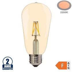 4W LED FILAMENT E27 ST64 Birne Gold Glas 400 Lumen Warmweiß
