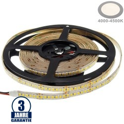196SMD/m 20W/m 24V Professional LED Streifen 2835 Neutralweiß 5m Wasserdicht