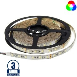 60SMD/m 16W/m 24V Professional LED Streifen RGBW Spritzwassergeschützt 5m Rolle