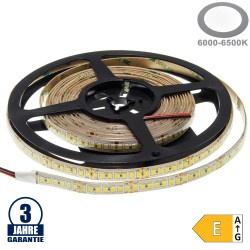 196SMD/m 20W/m 24V Professional LED Streifen 2835 Kaltweiß 5m Spritzwassergeschützt