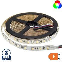 60SMD/m 16W/m 24V Professional LED Streifen RGBWW 5m Rolle