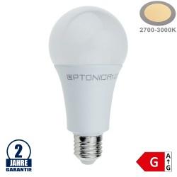 18W LED E27 A80 Birne Kunststoff Warmweiß