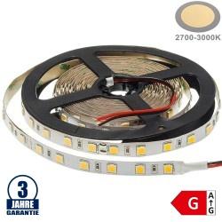 60SMD/m 16W/m 24V Professional LED Streifen 5054 Warmweiß 5m