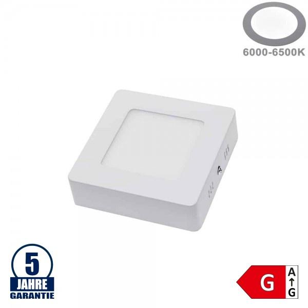 6W LED Aufbau Mini Panel Quadratisch Professional Kaltweiß