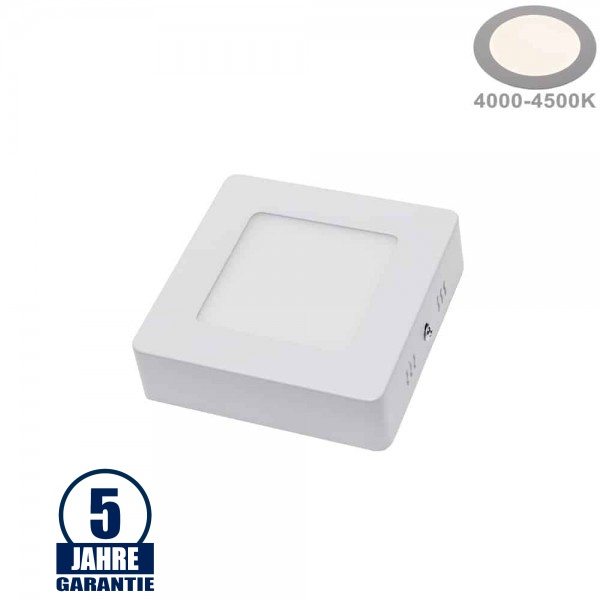 6W LED Aufbau Mini Panel Quadratisch Professional  Neutralweiß