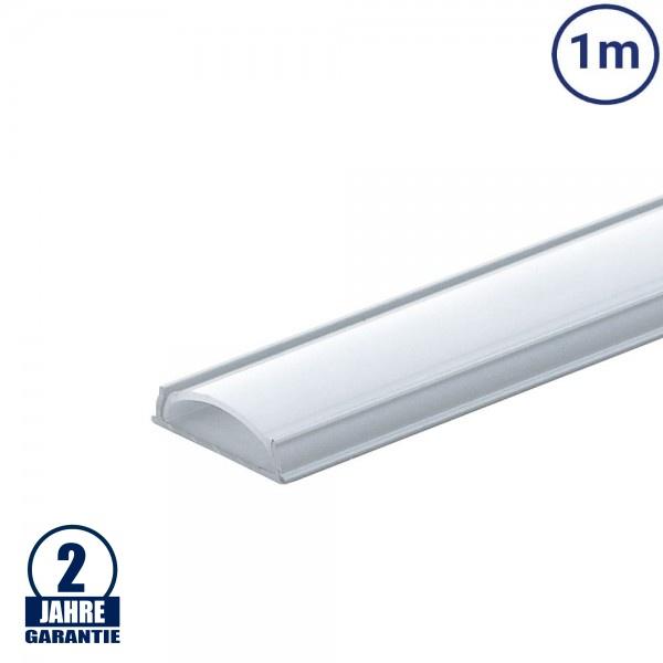 LED Profil Flexibel eloxiert 1m SET