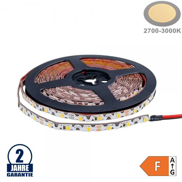 60SMD/m 7,2W/m 12V LED S-Streifen 2835 5m Warmweiß