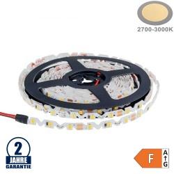 60SMD/m 7,2W/m 12V LED S-Streifen 2835 5m Warmweiß Spritzwassergeschützt