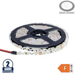 60SMD/m 7,2W/m 12V LED S-Streifen 2835 5m Kaltweiß Spritzwassergeschützt