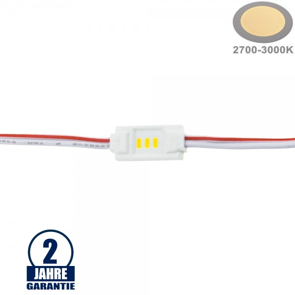 LED 12V SMD 3 3014 Modul 1,5W IP65 Warmweiß SET 20Stk