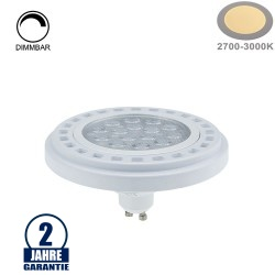 15W LED GU10/AR111 Spot 30° Warmweiß Dimmbar