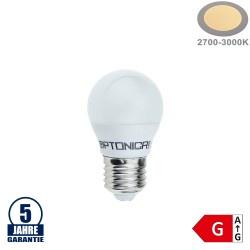 4W LED E27 G45 Birne Kunststoff Professional Warmweiß