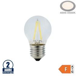 2W LED FILAMENT E27 G45 Birne Glas 200 Lumen Neutralweiß