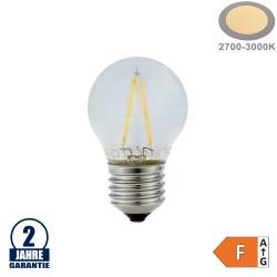 2W LED FILAMENT E27 G45 Birne Glas 250 Lumen Warmweiß