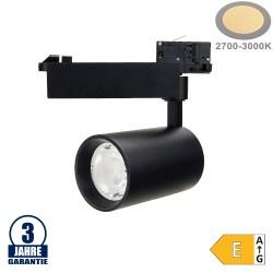 25W LED COB 3Ph. Schienenstrahler Professional Warmweiß Schwarz