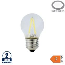 2W LED FILAMENT E27 G45 Birne Glas 200 Lumen Kaltweiß