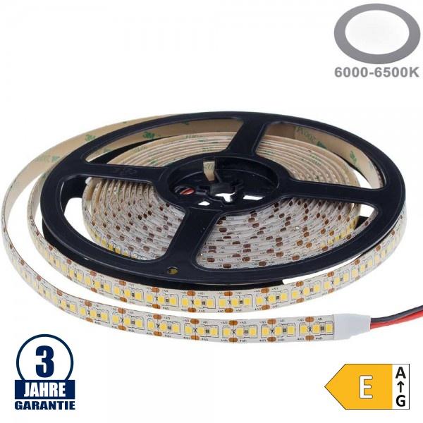 198SMD/m 20W/m 12V Professional LED Streifen 2835 Kaltweiß 5m Wasserdicht