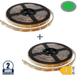 30SMD/m 7,2W/m 12V LED Streifen 5050 Grün Wassergeschützt 5m 1+1 Gratis Aktion