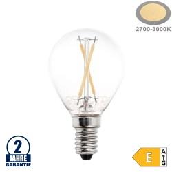 2W LED FILAMENT E14 G45 Birne Glas 200 Lumen Warmweiß