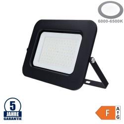 100W LED SMD Fluter Professional mit 70cm Kabel Schwarz Kaltweiß