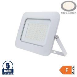 100W LED SMD Fluter Professional mit 70cm Kabel Weiß Neutralweiß
