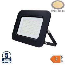 100W LED SMD Fluter Professional mit 70cm Kabel Schwarz Warmweiß