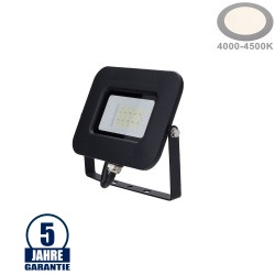 20W LED SMD Fluter Professional mit 70cm Kabel Schwarz Neutralweiß