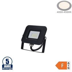 10W LED SMD Fluter Professional mit 70cm Kabel Schwarz Neutralweiß