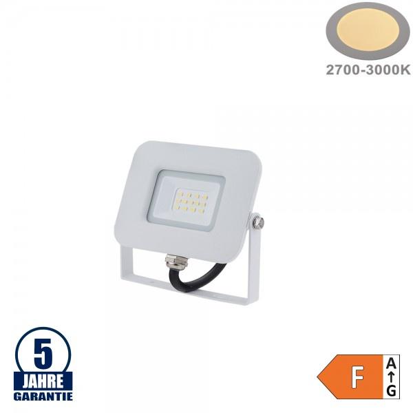 10W LED SMD Fluter Professional mit 70cm Kabel Weiß Warmweiß
